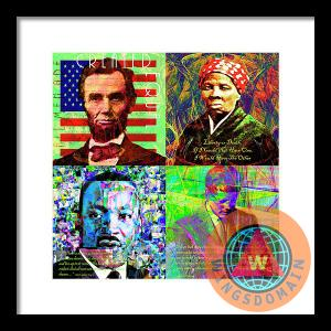 Faces Of Equality And Freedom In America Abraham Lincoln Harriet Tubman Martin Luther King Jr John Fitzgerald Kennedy By Wingsdomain Art And Photography